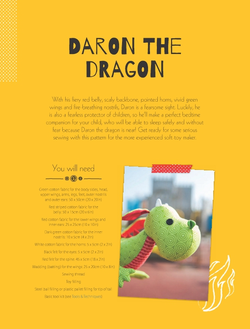 Daron the Dragon Soft Toy Pattern