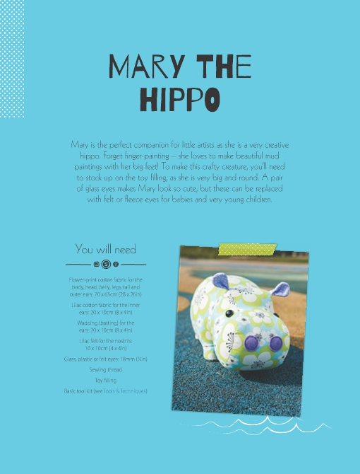Mary the Hippo Soft Toy Pattern
