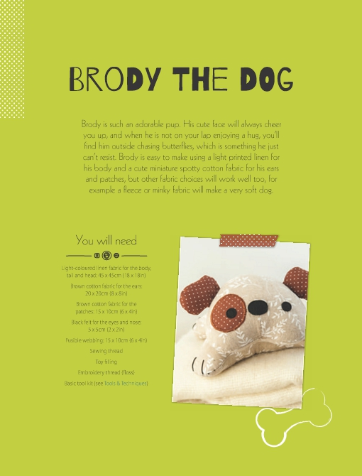 Brody the Dog Soft Toy Pattern