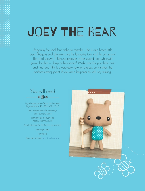 Joey the Bear Soft Toy Pattern