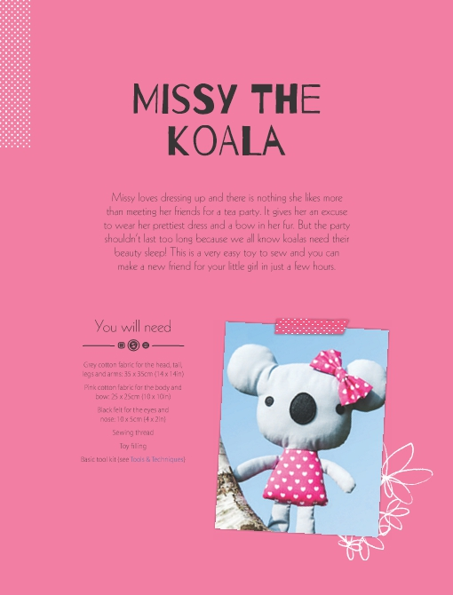 Missy the Koala Soft Toy Pattern