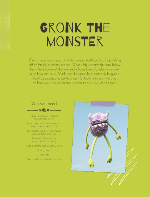 Gronk the Monster Soft Toy Pattern