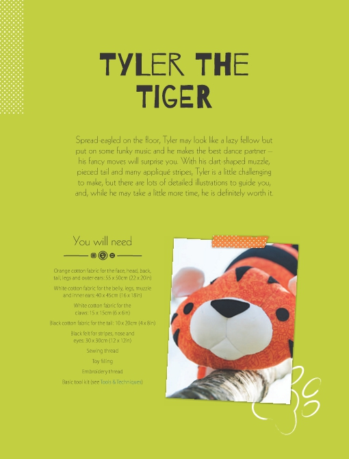 Tyler the Tiger Soft Toy Pattern