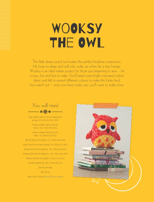 Wooksy the Owl Soft Toy Pattern