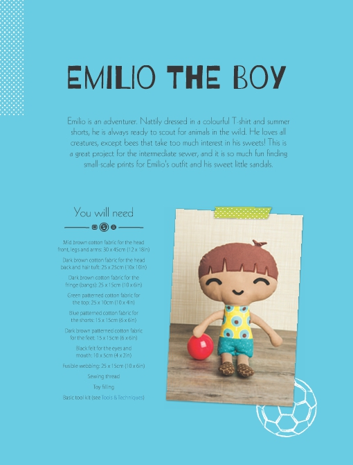 Emilio the Boy Soft Toy Pattern