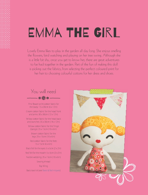 Emma the Girl Soft Toy Pattern