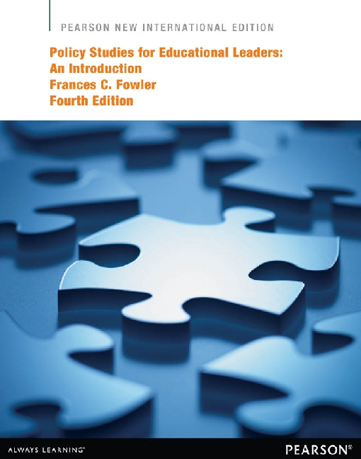 Policy Studies for Educational Leaders
