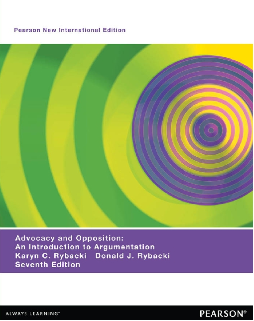 Advocacy and Opposition: Pearson New International Edition