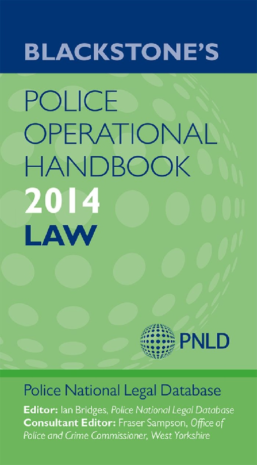 Blackstone's Police Operational Handbook 2014