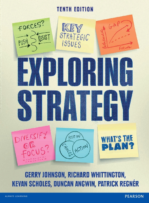 Exploring Strategy 10th edition Text Only