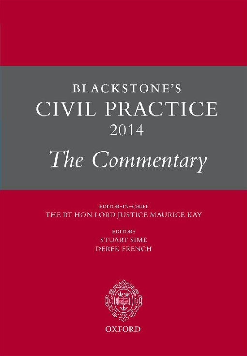 Blackstone's Civil Practice 2014