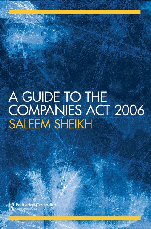 A Guide to The Companies Act 2006