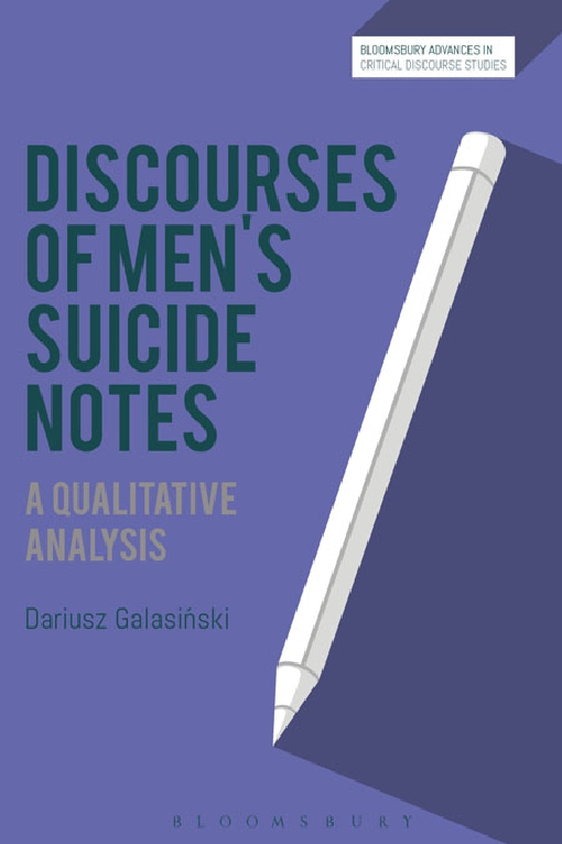 Discourses of Men�s Suicide Notes