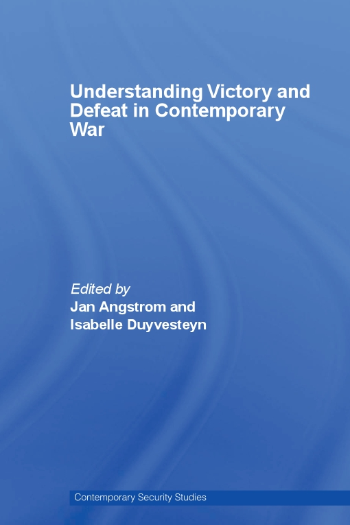 Understanding Victory and Defeat in Contemporary War