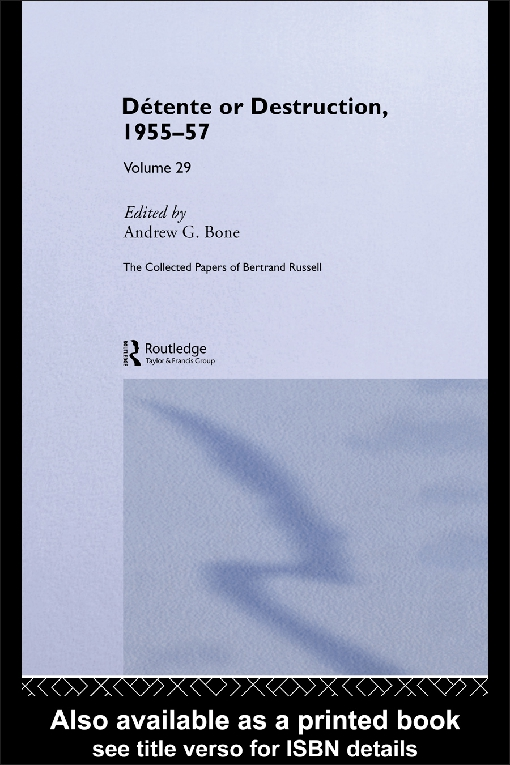 The Collected Papers of Bertrand Russell Volume 29