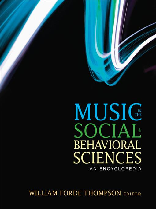 Music in the Social and Behavioral Sciences