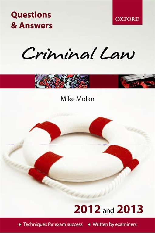 Questions & Answers: Criminal Law 2012 and 2013