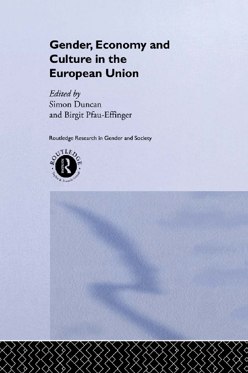 Gender, Economy and Culture in the European Union