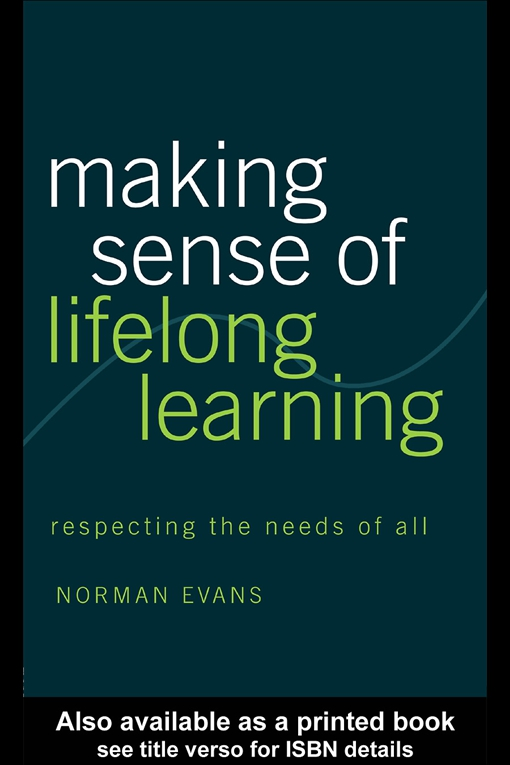 Making Sense of Lifelong Learning