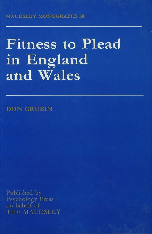 Fitness To Plead In England And Wales
