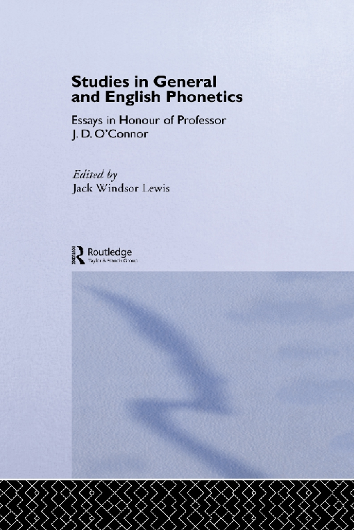 Studies in General and English Phonetics