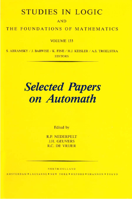 Selected Papers on Automath