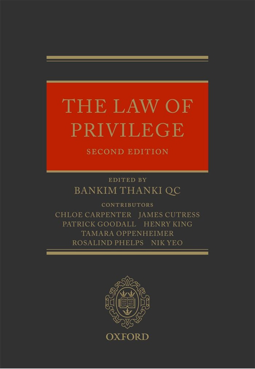 The Law of Privilege