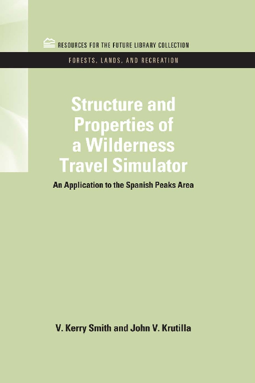 Structure and Properties of a Wilderness Travel Simulator