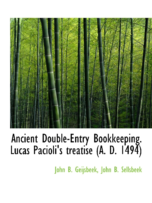 Ancient Double-Entry Bookkeeping
