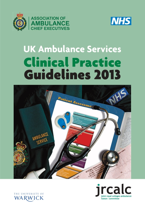 UK Ambulance Services Clinical Practice Guidelines 2013 - Version 1.3