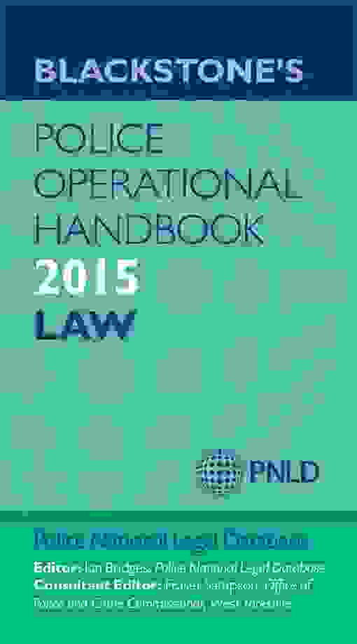 Blackstone's Police Operational Handbook 2015