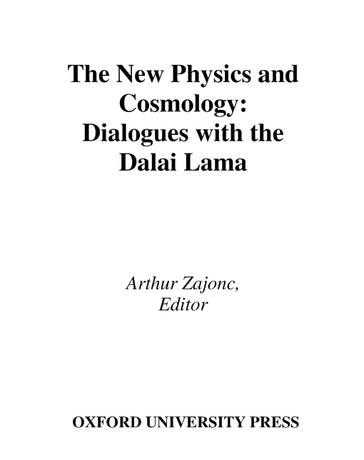 The New Physics and Cosmology