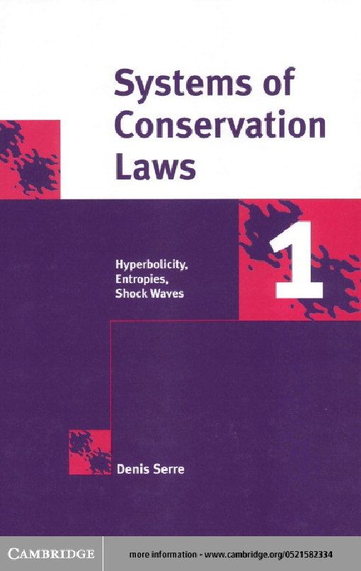 Systems of Conservation Laws 1