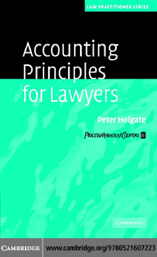 Accounting Principles for Lawyers