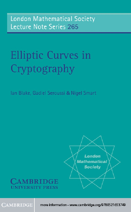 Elliptic Curves in Cryptography