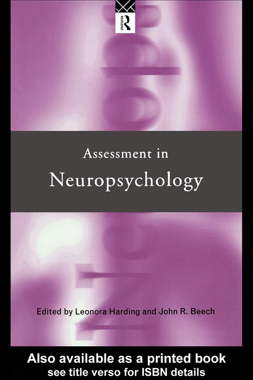 Assessment in Neuropsychology