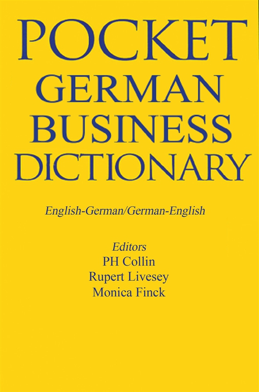 Pocket Business German Dictionary