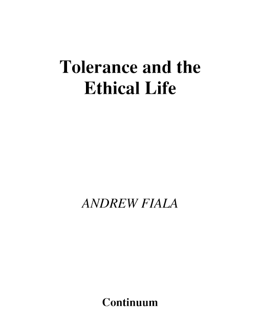 Tolerance and the Ethical Life