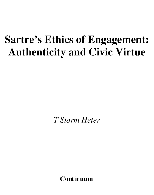 Sartre's Ethics of Engagement