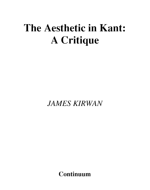 The Aesthetic in Kant