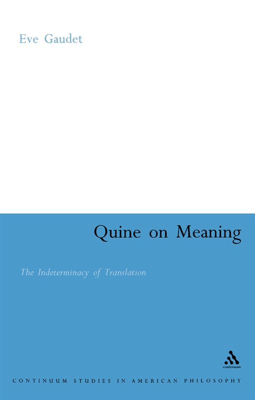 Quine on Meaning