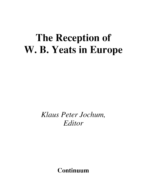 The Reception of W. B. Yeats in Europe