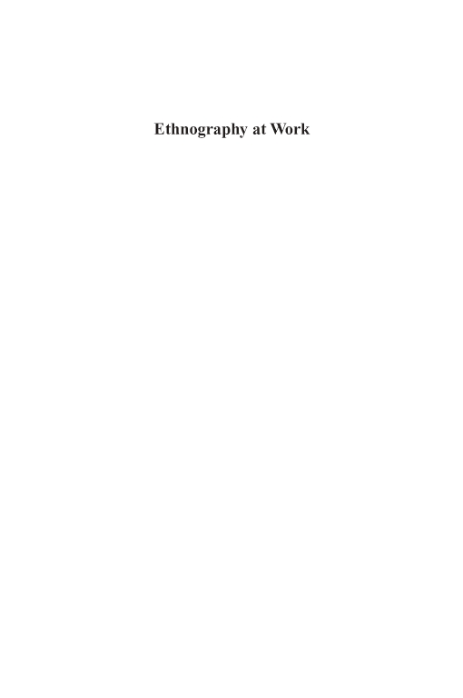Ethnography at Work