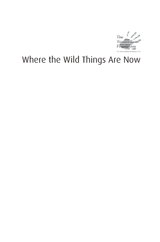Where the Wild Things Are Now