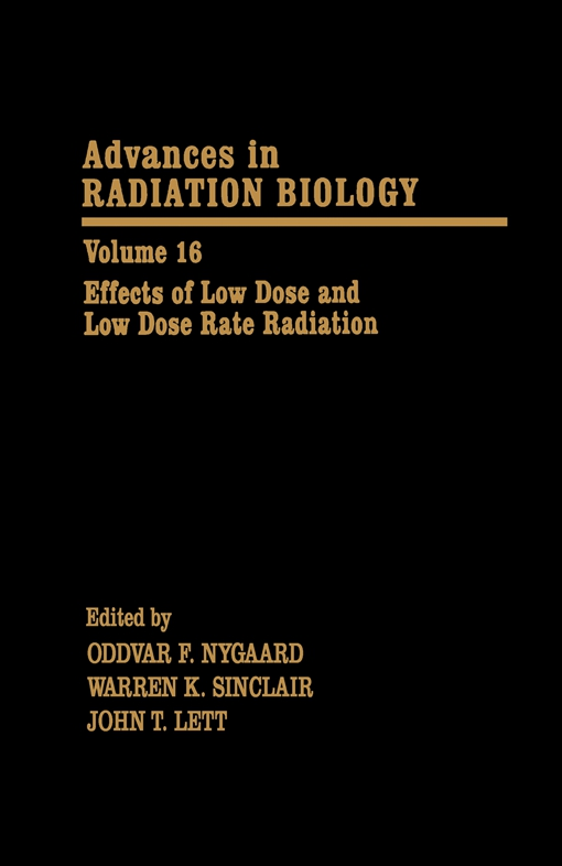 Effects of Low Dose and Low Dose Rate Radiation