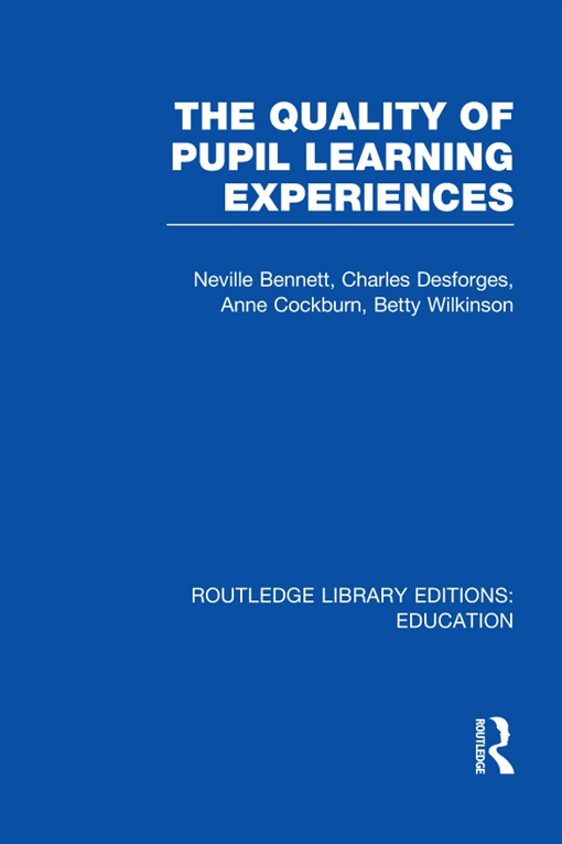 Quality of Pupil Learning Experiences (RLE Edu O)