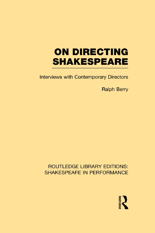 On Directing Shakespeare