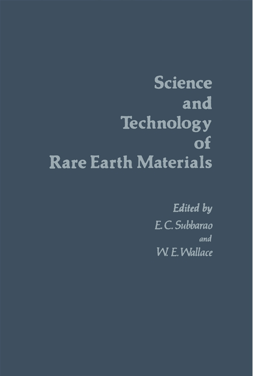 Science and Technology of Rare Earth Materials