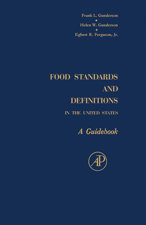 Food Standards and Definitions In the United States