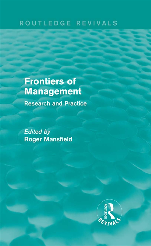 Frontiers of Management (Routledge Revivals)